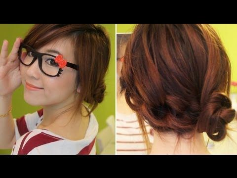 3 Min Cute Knotted Hairstyle