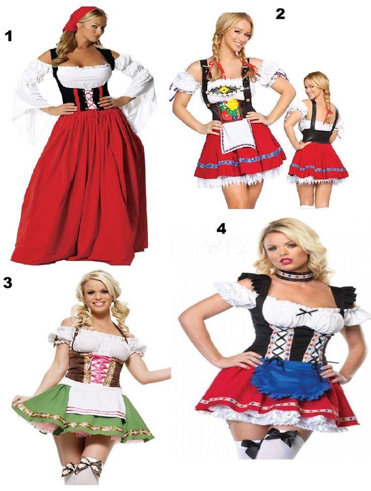 Ladies Wench Oktoberfest German Beer Maid Fancy Dress Costume Medieval Womens #BurlesqueBox #CompleteOutfit