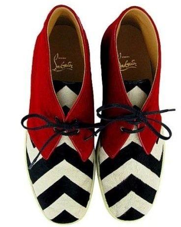 "Christian Louboutin Zebra ""Louis"" Desert Boots"