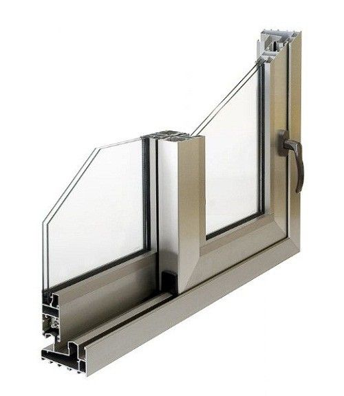 Marcos de aluminio para ventanas de fachada