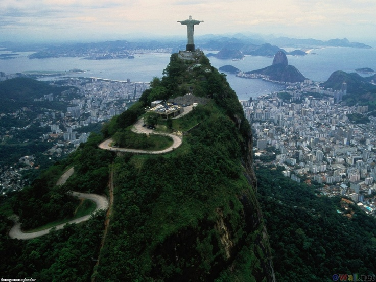 "Rio, Brazil! I want to climb that mountain to the top of ""Christ the Redeemer"""
