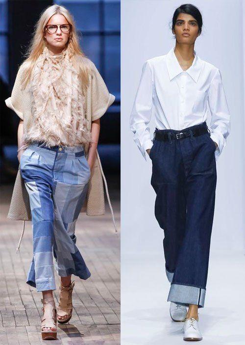 Модные джинсы весна-лето 2016 от Margaret Howell (справа), слева - не помним