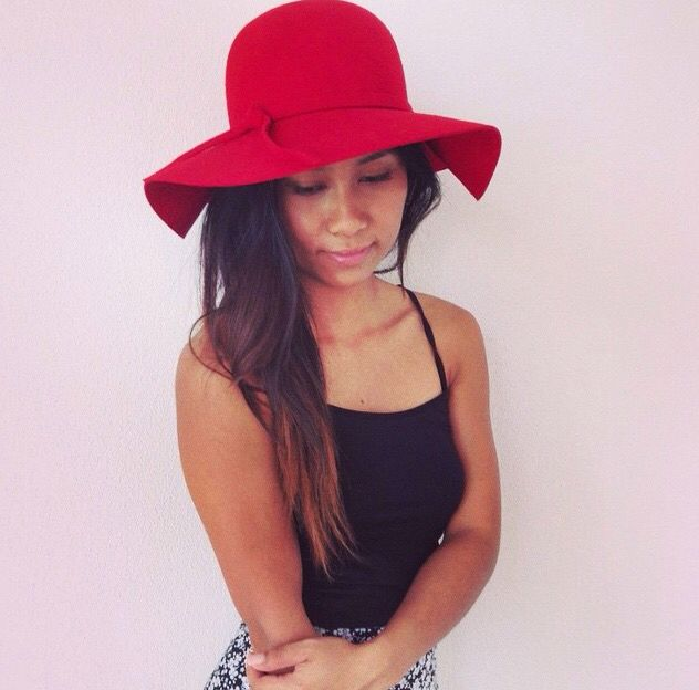 Red Floppy Hat from La Moda Boutique