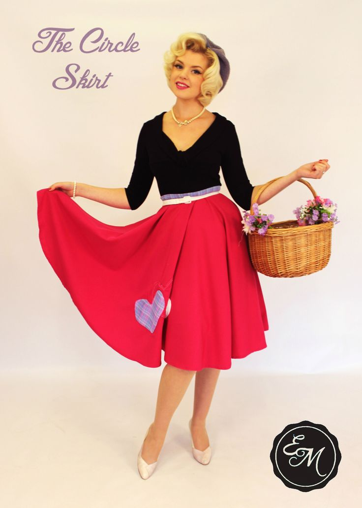 Eliza M Vintage | Circle Skirt Long | 1950's || Jaycotts £13.50