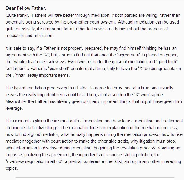 Http://Fathershelphotline.Com/Mediation-How-Fathers-Can-Settle