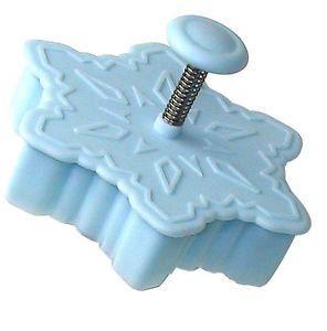 Cortador de galletas de copo de nieve pasteles cortador de