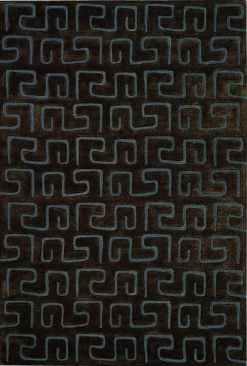 Geoglyph Area Rug - Wool Rugs - Contemporary Rugs - Rugs | - HomeDecorators.com - THIS RUG BUT IN KIWI, not black. about $980 - silk & viscose - gorgeous!