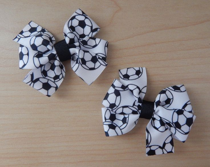 The perfect hair bows for the soccer girl in your life! This set of hair bows is black and white just like the soccer balls. Birthday party coming soon? This cute hair bows will make a great birthday