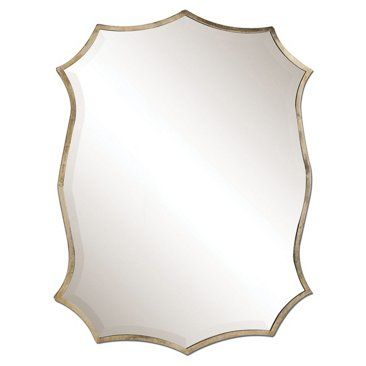 """Check out this item at One Kings Lane! 23""""x30"""" Midcentury Mirror, Nickel"""