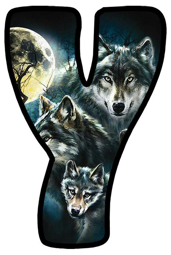 Buchstabe Letter Y Wolf Animals Animal Tattoo