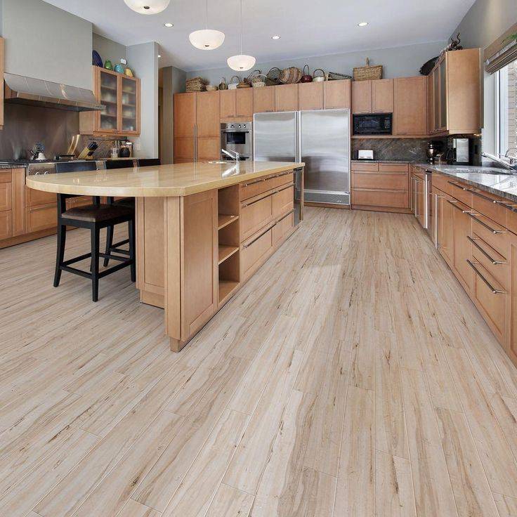 Trafficmaster allure plus 5 in x 36 in vintage maple for White kitchen vinyl floor