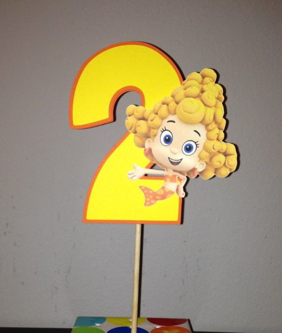 Bubble Guppies Cake Topper by YourPartyShoppe on Etsy