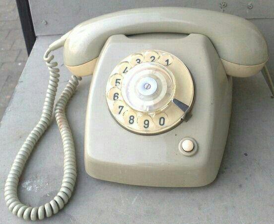 Telefoon met draaischijf