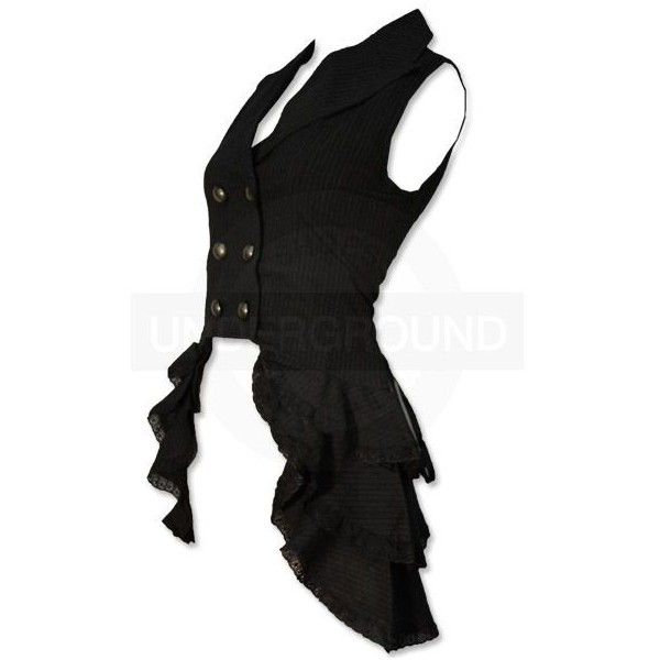 another example of attached skirting to vest | Steampunk Vest ($76) found on Polyvore