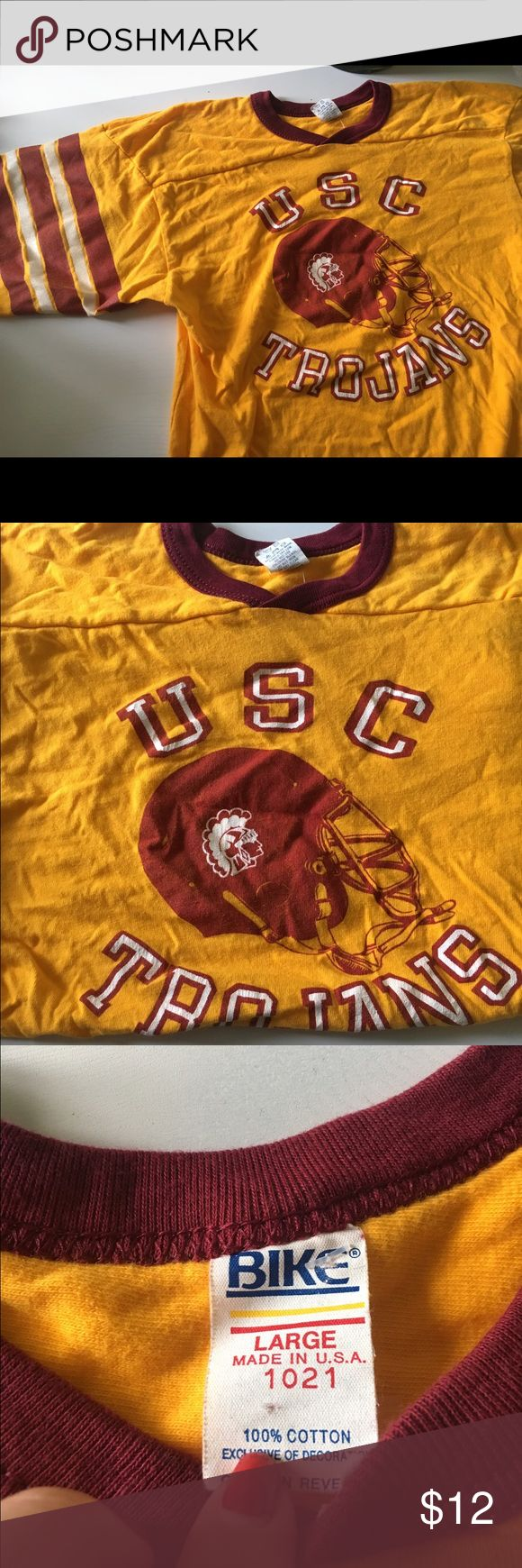 Vintage USC Trojans shirt University Southern CA Vintage USC shirt I picked up at a thrift shop in Los Angeles. Cardinal and gold colors, men's size L. Fight on! Shirts Tees - Short Sleeve