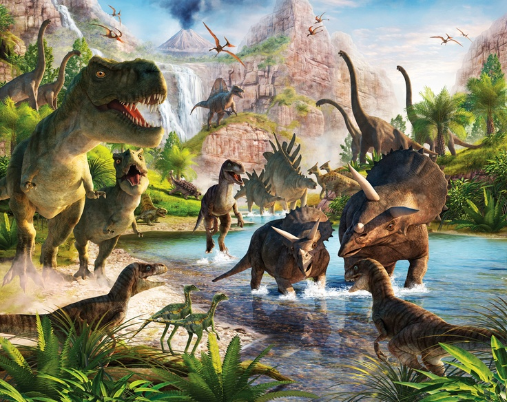 Beautiful Fototapete Kinderzimmer Dinos Dinosaurier inkl Tapetenkleister gibt es direkt hier http