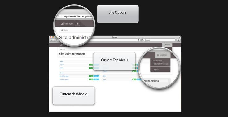 Django Phantom Theme is an admin theme for Django Framework. It allows for registering custom database options and provides a clean and modern web interface. The application is designed to be responsive and adopt to mobile and tablet devices. To achieve this we have used the twitter bootstrap 3.x framework grid. The application is constantly evolving so make sure you checkout github for the latest updates and fixes.FeaturesA clean and modern user interfaceHand-written pure H…