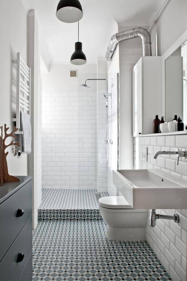 Een decorvloer zonder randen maakt een ruimte groter. Hier toegepast met de serie vloertegels 1900.
