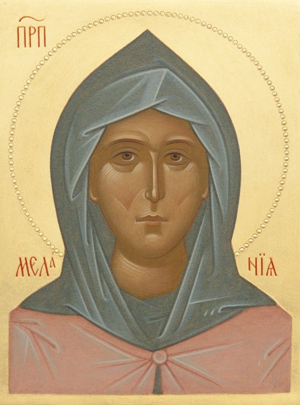 Icon of St Melanie - Hand-Painted Icon from the Workshop of St. Elisabeth Convent - To learn more about our Icon Painting Studio: http://catalog.obitel-minsk.com/icon-painting - Worldwide Delivery - #CatalogOfGoodDeeds #Orthodox #Icons - #OrthodoxIcons #Orthodoxy,  #Miracle, #Blessed #Faith #Handpainted #Saint #Melanie