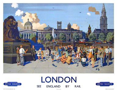 British Rail Poster - London