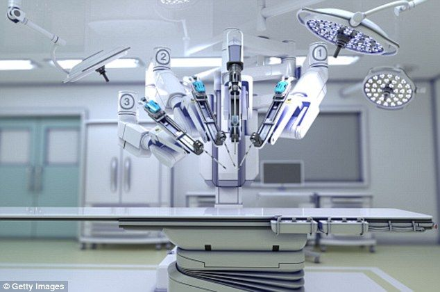Infection danger? A new study warns there is no way to remove all surface contaminants from the tools of surgical robots - even following the manufacturer's guide (file image pictured)