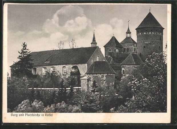 Burg und Pfarrkirche in Rößel