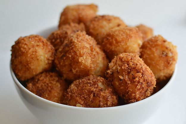 Fried Mashed Potato Balls | If The Football Fans In Your Family Dreamt Up Thanksgiving, It Would Look Like This