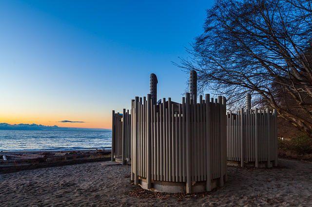 Carscadden Stokes McDonald Architects  Architecture Wreck Beach Park Washrooms Sculpture Steel