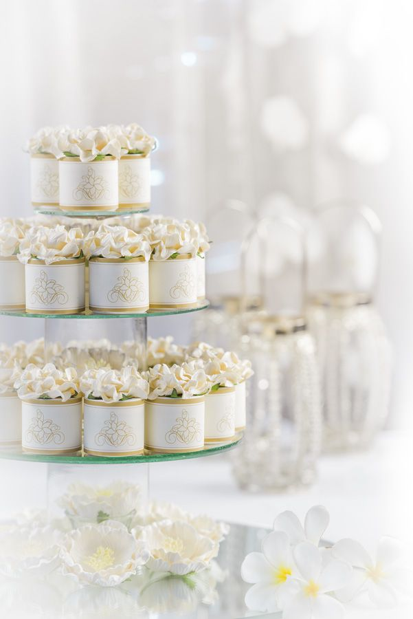 Pure Fiji wedding gifts for guests and unique favors | Luxurious body butter of your choice in fragrance; coconut, frangipani, mango, and more. Beautifully packaged in an elegant paper sheath and topped off with an elegant paper flower. Give your guests a gift they will always remember. SHOP https://us.purefiji.com/us-eb-pbbb2.html?attribs=Weddings