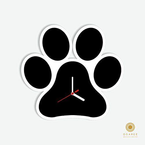 Dog Foot Print Wall Clock Design Osaree http://www.amazon.com/dp/B014WFY3HE/ref=cm_sw_r_pi_dp_MPv-vb0JN2BM6 #walldecor #wall clock #dog Foot print #acrylic wall clock