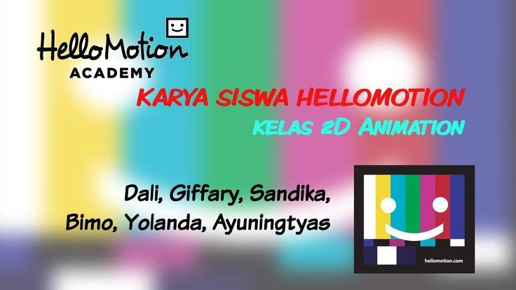 Hasil kursus animasi 2D, selama 5 pertemuan x @ 4 jam siswa Hellomotion, mulai dari kelas 4 SD sampai mahasiswa. Salam Nganimasi