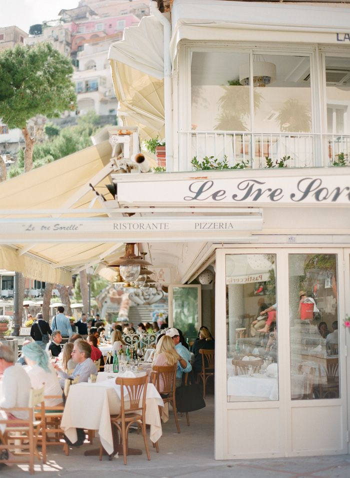 Amalfi Coast #cafe. I ate at this very cafe while I was in Italy. Can't wait to go back