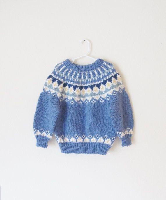 Vintage Fair Isle Kids Sweater / Children's Winter by WeeBabyBug