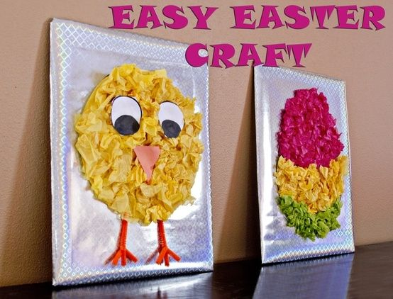 Cute and super easy Easter crafts kids of ALL ages can do. by dominique