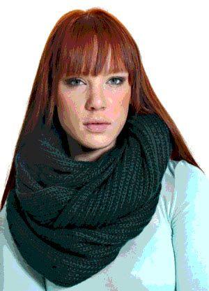 вязание шарфа трубы спицами с фото