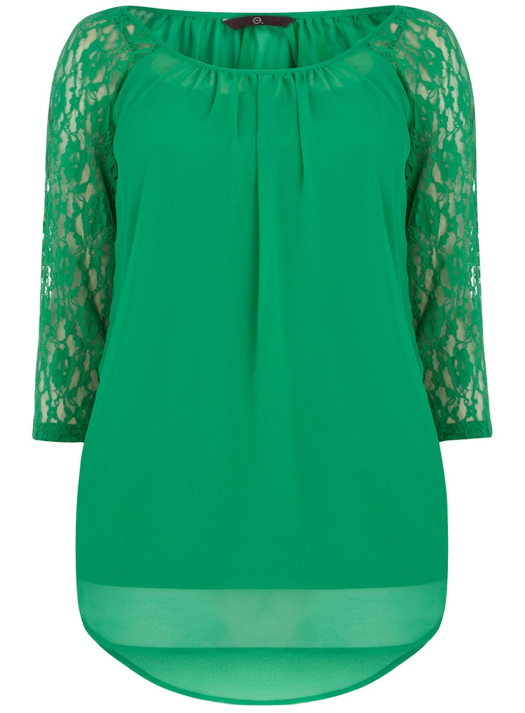 Evans Green Lace Top. | Lace Luxury | Pinterest