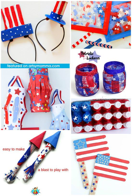Help kids show their American pride with these super cool 4th of July crafts tha…  – CrAfTy 2 ThE CoRe~DIY GaLoRe