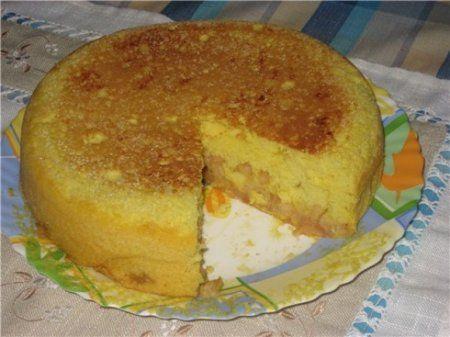 Тыквенно-яблочный кекс в мультиварке