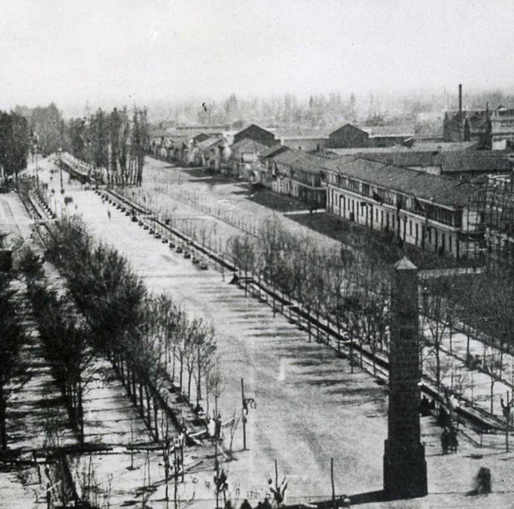 Alameda de las Delicias alrededor del año 1860