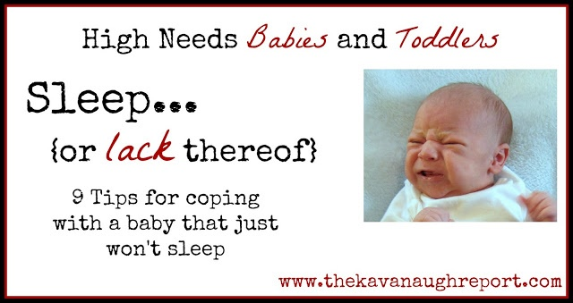 Tips for dealing with a baby that won't sleep. Good for high needs babies and toddlers in particular. Pin now, read later!