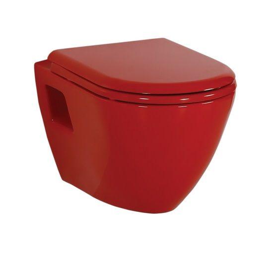 Κόκκινη Λεκάνη Μπάνιου Κρεμαστή Creavit Razor