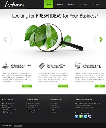 Clean corporate web design