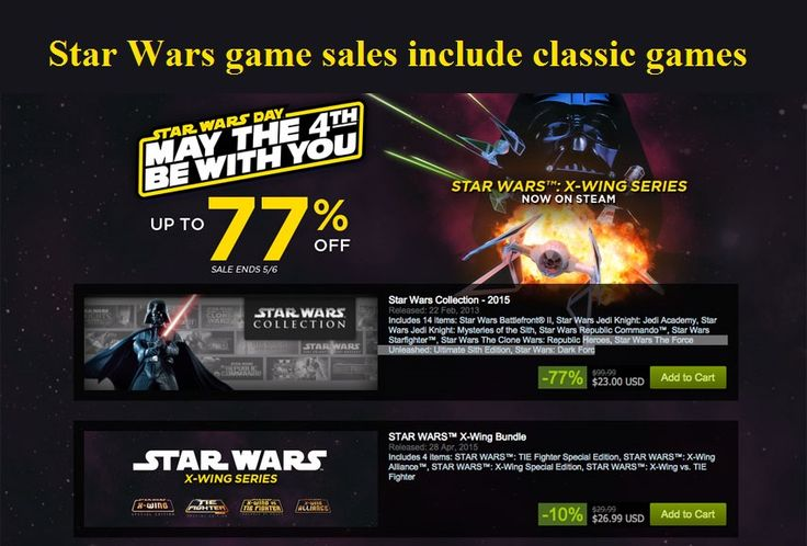 Star Wars game sales include classic games #StarWars #Sale #Steam #GOG #HumbleBundle