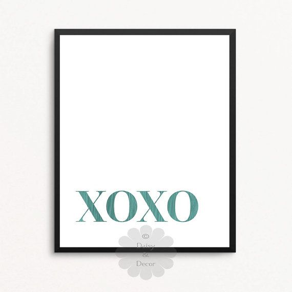 Xoxo quote  xoxo Hugs and Kisses quote Printable by DaisyandDecor