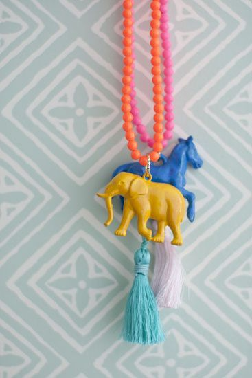 Colorful animal necklaces