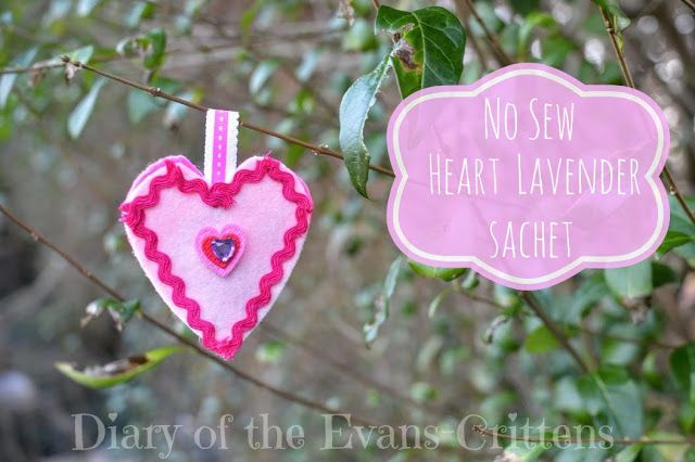 Valentine's Day Craft:  Make a No Sew Heart Lavender Sachet