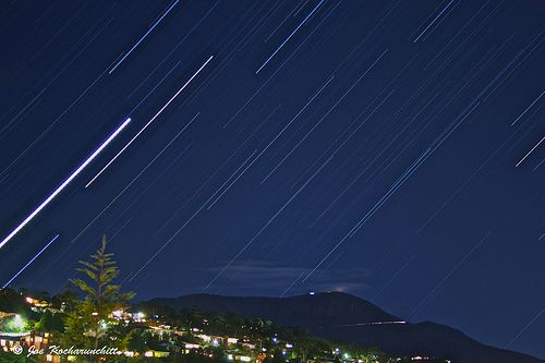 One night with Raining Stars over Mt Wellington...