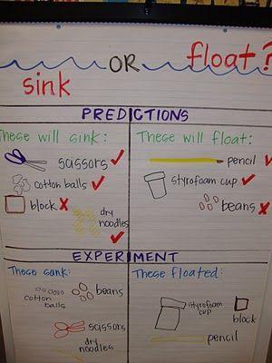 10 Best Science Sink Or Float Images On Pinterest