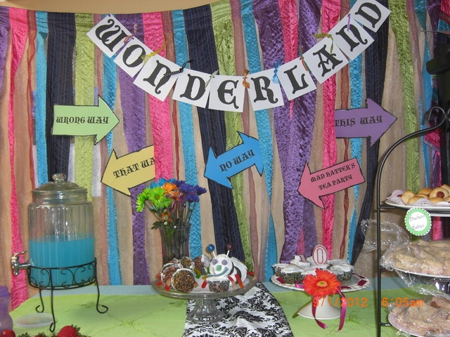 Alice in Wonderland easy party ideas