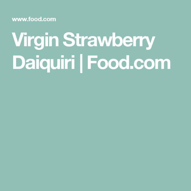 Virgin Strawberry Daiquiri | Food.com